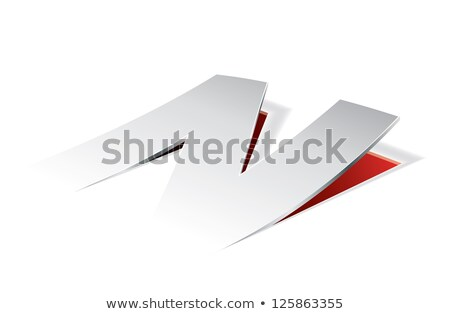 Paper folding with letter N in perspective view Stock photo © archymeder
