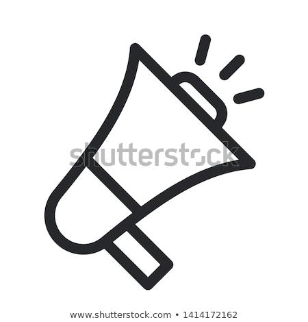 мегафон · белый · иллюстрация · оранжевый · звук - Сток-фото © zzve