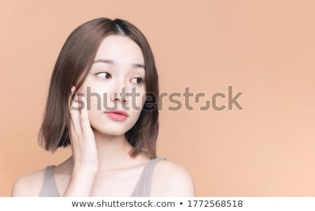 Női arc alap nő közelkép arc portré Stock fotó © chesterf