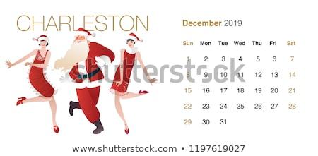 Mutlu noel baba elbise poz Stok fotoğraf © stepstock
