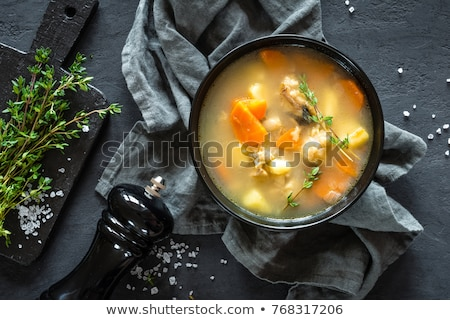 frutti · di · mare · alimentare · zuppa · vegetali · piatto - foto d'archivio © zhekos