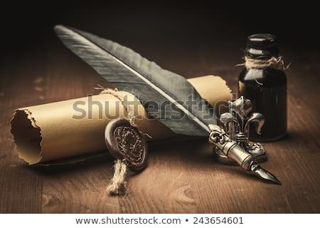 Alten Stift isoliert weiß malen Metall Stock foto © gavran333