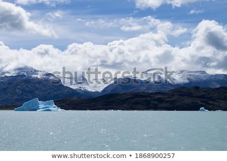 Foto stock: Icebergue · flutuante · lago · espetacular · azul · parque