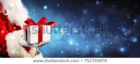Santa Claus holding gift box 3d illustration Stock photo © marinini