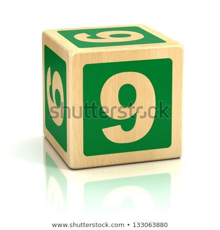 Number 9 - Childrens Alphabet Block. Stock photo © tashatuvango