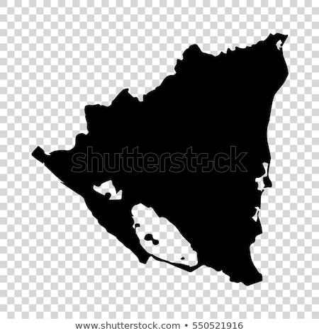 地図 · ニカラグア · 旅行 · 赤 · ベクトル - ストックフォト © volina