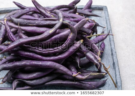 purple french beans Stock photo © nito