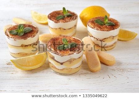 lemon tiramisu dessert stock photo © m-studio