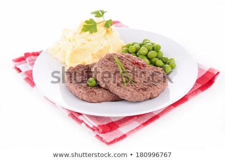 бифштекс продовольствие мяса томатный обед столовой Сток-фото © M-studio