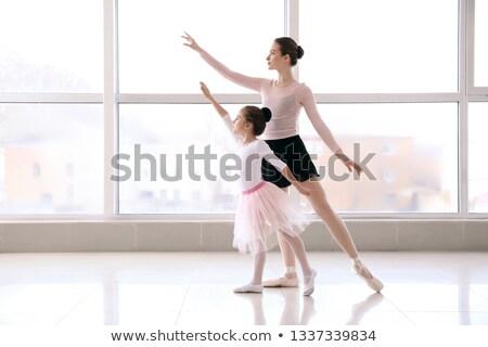 Kecses ballerina képzés fekete macskanadrág balett Stock fotó © dash