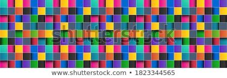 Colorido telha abstrato teia preto serviço Foto stock © shawlinmohd