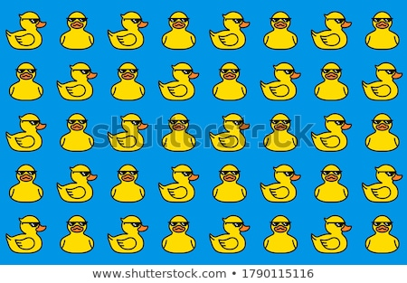 Blue and yellow rubber duck in glasses Stock photo © michaklootwijk