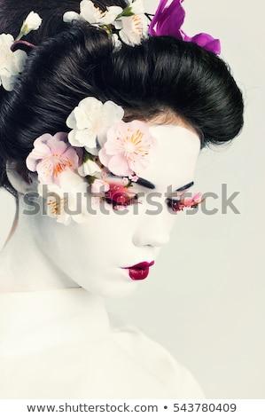 Ritratto pregando geisha donna primavera faccia Foto d'archivio © Nejron
