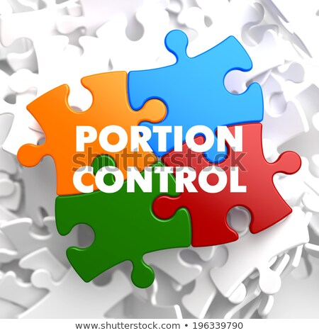 Portion Control on Multicolor Puzzle. Stock photo © tashatuvango