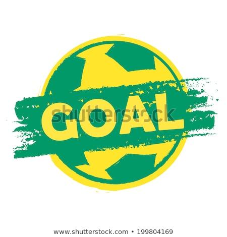 Doel voetbal kleuren banner groene Stockfoto © marinini