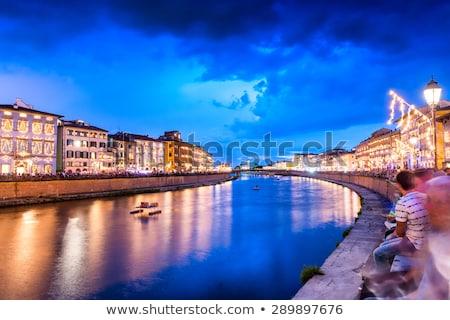 Olaszország · város · utcák · megvilágított · víz · épület - stock fotó © Dserra1
