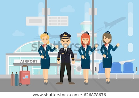 Air hostess isolated on white background. Stewardess. Vector ill Stock photo © leonido