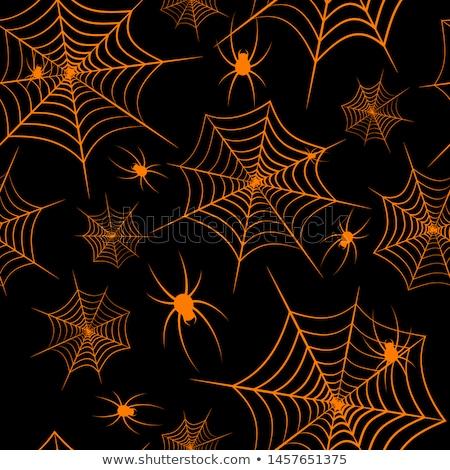 Gelukkig halloween achtergrond kunst oranje behang Stockfoto © kiddaikiddee