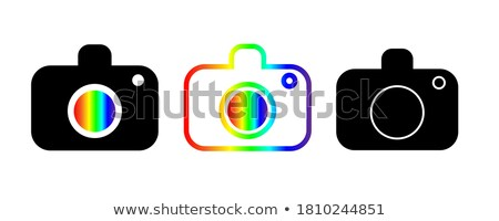 Stylized photography logo in pink and black Stock photo © shawlinmohd