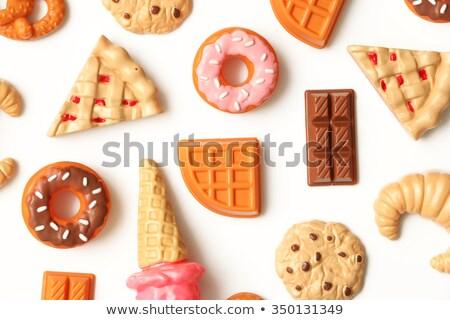 Sahte kurabiye çok renkler kırmızı Stok fotoğraf © nito