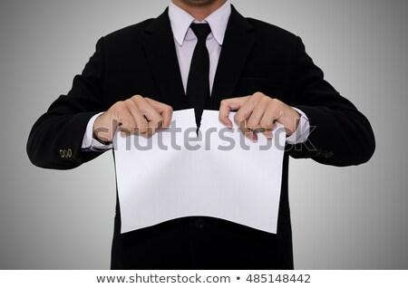 человека отдельно договор документа бумаги жест Сток-фото © stevanovicigor