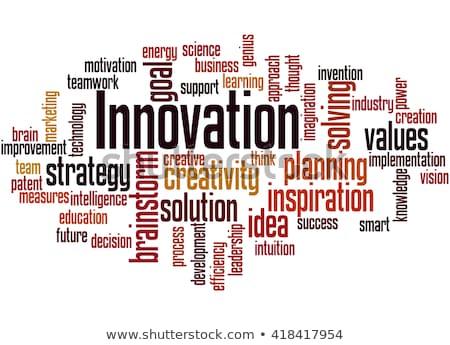 Illustratie woord innovatie wolken geïsoleerd witte Stockfoto © Istanbul2009