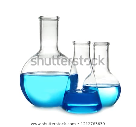 Backlit laboratory flask. Stock photo © kasto