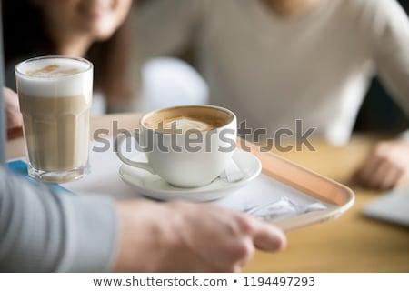 女性 · カップ · レストラン · 小さな · かわいい · 見える - ストックフォト © RossHelen