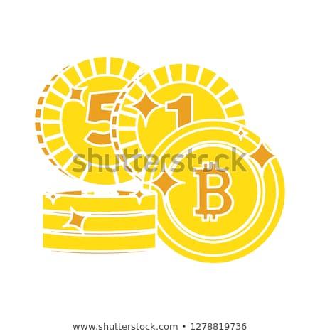 бит монеты вектора икона дизайна Сток-фото © rizwanali3d