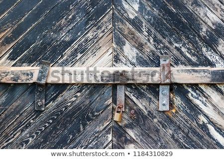 heavy wooden doors to industrial building Stock photo © PixelsAway