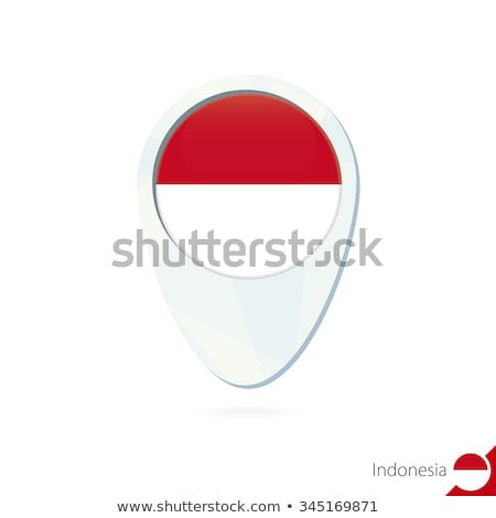 Map on flag button of  Indonesia Stock photo © Istanbul2009