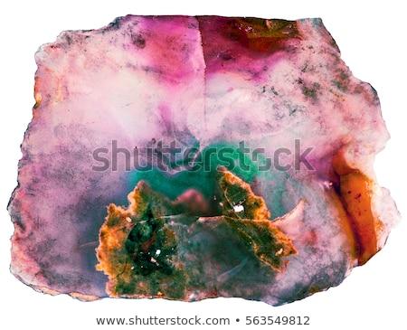 ásvány · gyűjtemény · izolált · fehér · természet · gyógyszer - stock fotó © jonnysek