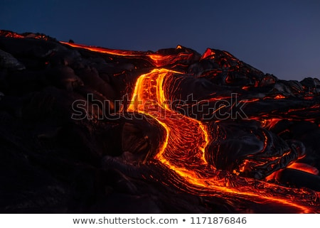 Pahoehoe Lava  on a Volcanic Island Stock photo © wildnerdpix