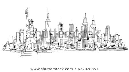 Statue liberté New York vecteur isolé blanche Photo stock © Mr_Vector