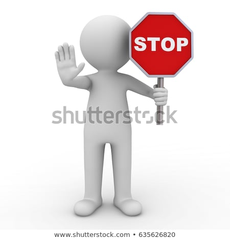 Abstract to stop sign with men hand  Stock photo © Suriyaphoto