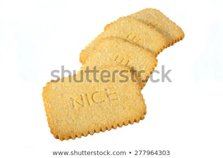 Nice biscuits biscuit thé blanche coco Photo stock © chrisdorney