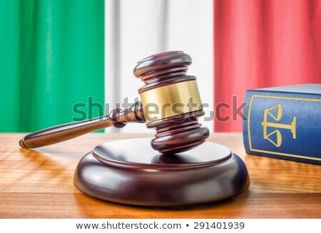 A gavel and a law book - Italy Stock photo © Zerbor