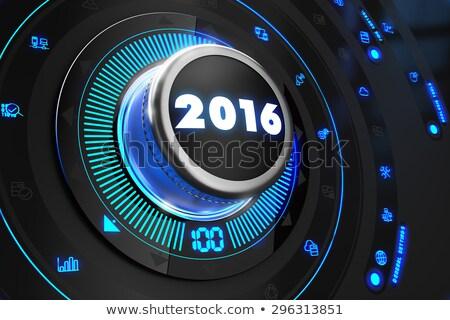 2016 fekete irányítás konzol kék háttérvilágítás Stock fotó © tashatuvango