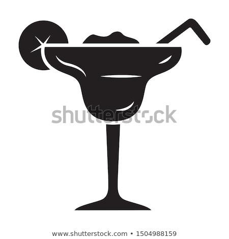 bevroren · zomer · drinken · silhouet · strand - stockfoto © jackethead
