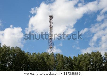 антенна · башни · станция · Blue · Sky · бизнеса - Сток-фото © ironstealth