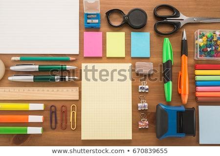 Irodaszerek farmer zseb iroda toll ceruza Stock fotó © fuzzbones0