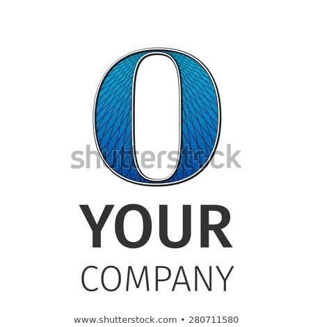 abstract guilloche logo letter o stock photo © netkov1