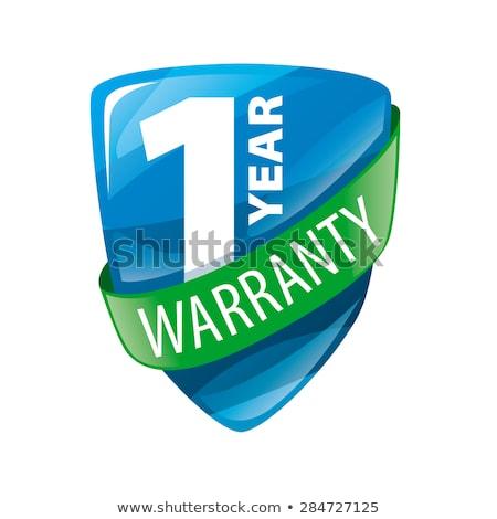 1 year warranty green vector icon design stock photo © rizwanali3d