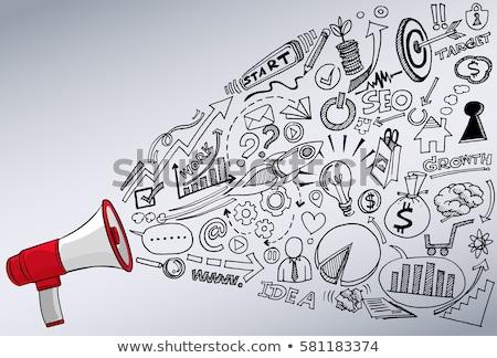 Voice Marketing concept with Doodle design style  Stock photo © DavidArts
