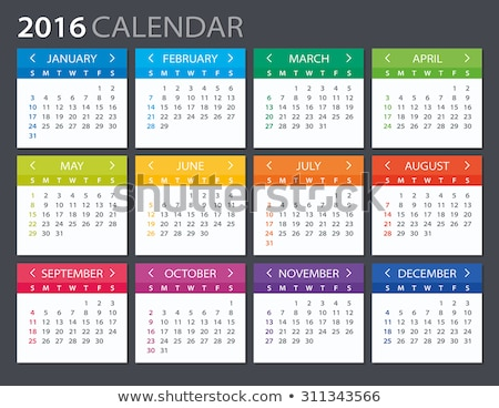 2016 Calendar - illustration vector color design Stock photo © rommeo79