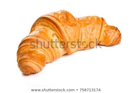 Croissant café gâteau boire café déjeuner Photo stock © shutswis