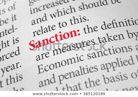 Definition of the word Sanction in a dictionary Stock photo © Zerbor