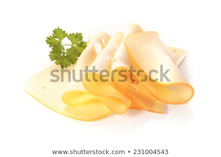 Sliced cheese with ham and parsley Stock photo © mady70