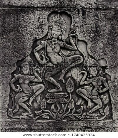 Angkor · Wat · antigo · dança · Camboja · parede · arte - foto stock © mikko