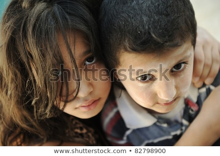 Little brother and sister, poverty , bad condition Stock photo © zurijeta